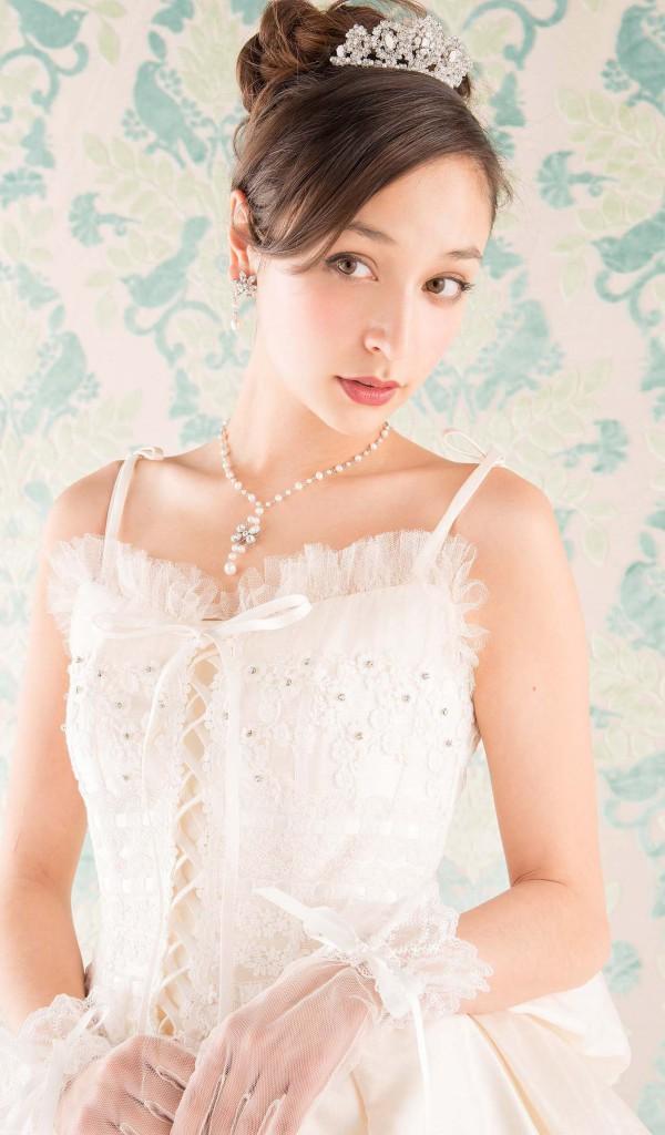 ウェディングドレス レンタル プレタ オーダー | ドレスマニア N0020 ビスチェタイプが可愛いクラシカルニュードレス