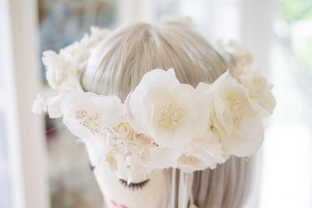 ウェディングドレス ヘッドドレス 花冠