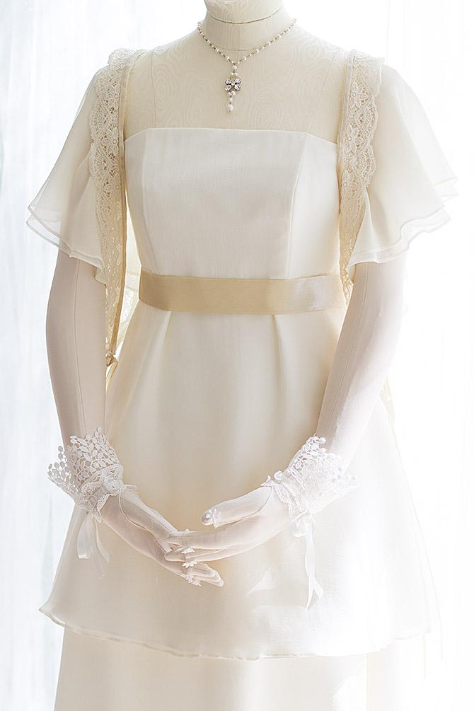 ウェディングドレス レンタル プレタ オーダー | ドレスマニア N0026取り外し袖