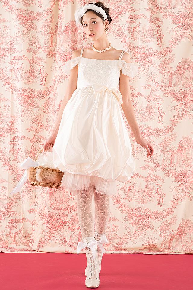 ウェディングドレス レンタル プレタ オーダー | ドレスマニア N0018 N0018 ミニドレスに変わる個性派2ウェイエンパイアドレス