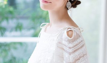 大きいお花のボンネ ホワイトフラワー ドレスマニアオリジナル