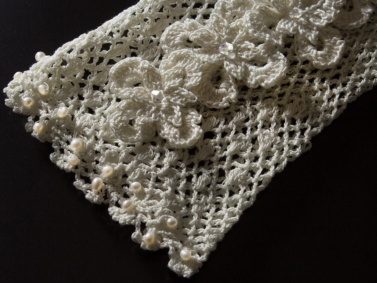 ウェディングドレス レンタル プレタ オーダー | ドレスマニア グローブ 人気 コットンの優しい質感とクラシカルな雰囲気が可愛らしいグローブ