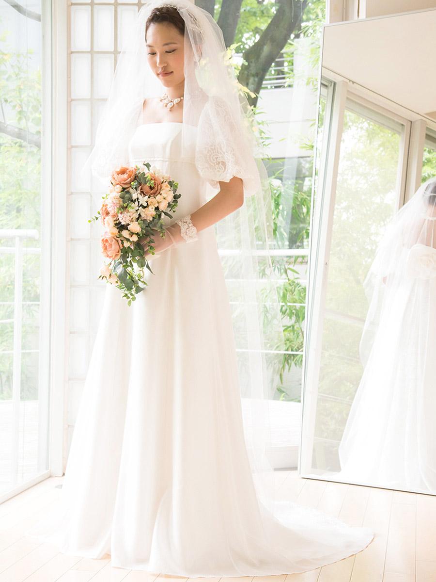 ウェディングドレス レンタル プレタ オーダー | ドレスマニア どんなドレスにもぴったりのシンプルで美しいロングベールどんなドレスにもぴったりのシンプルで美しいロングベール
