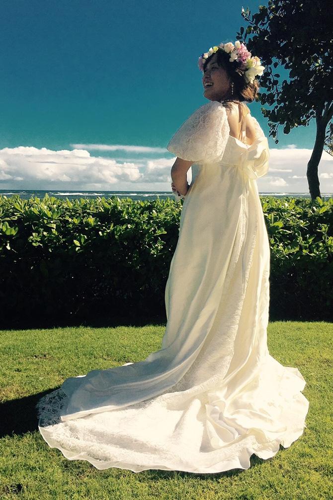 ドレスマニア 先輩花嫁様 ハワイカウアイ島ウエディング