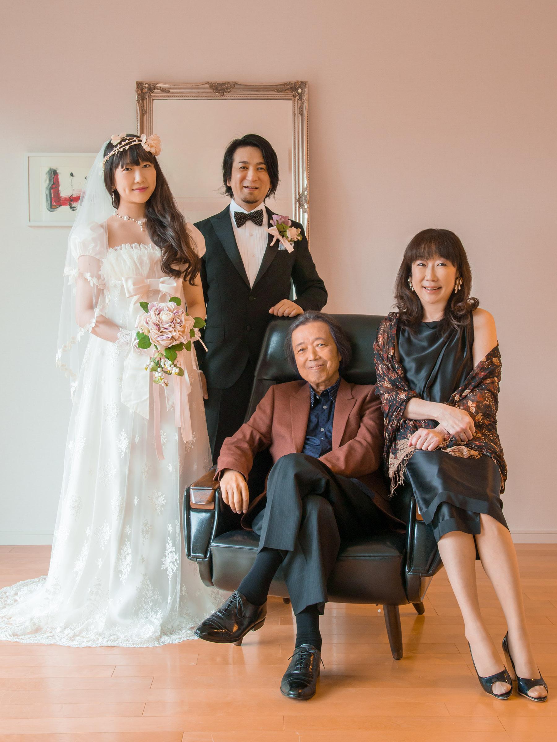 ドレスマニアブログ 家族 ウェディング写真