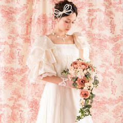 N0012 優雅で高貴でスイートに ドレスマニアのAラインドレス。