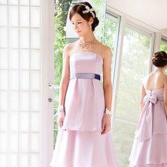 N0032Pu 大人の花嫁様にぴったりの落ち着いたラベンダーのカラードレス